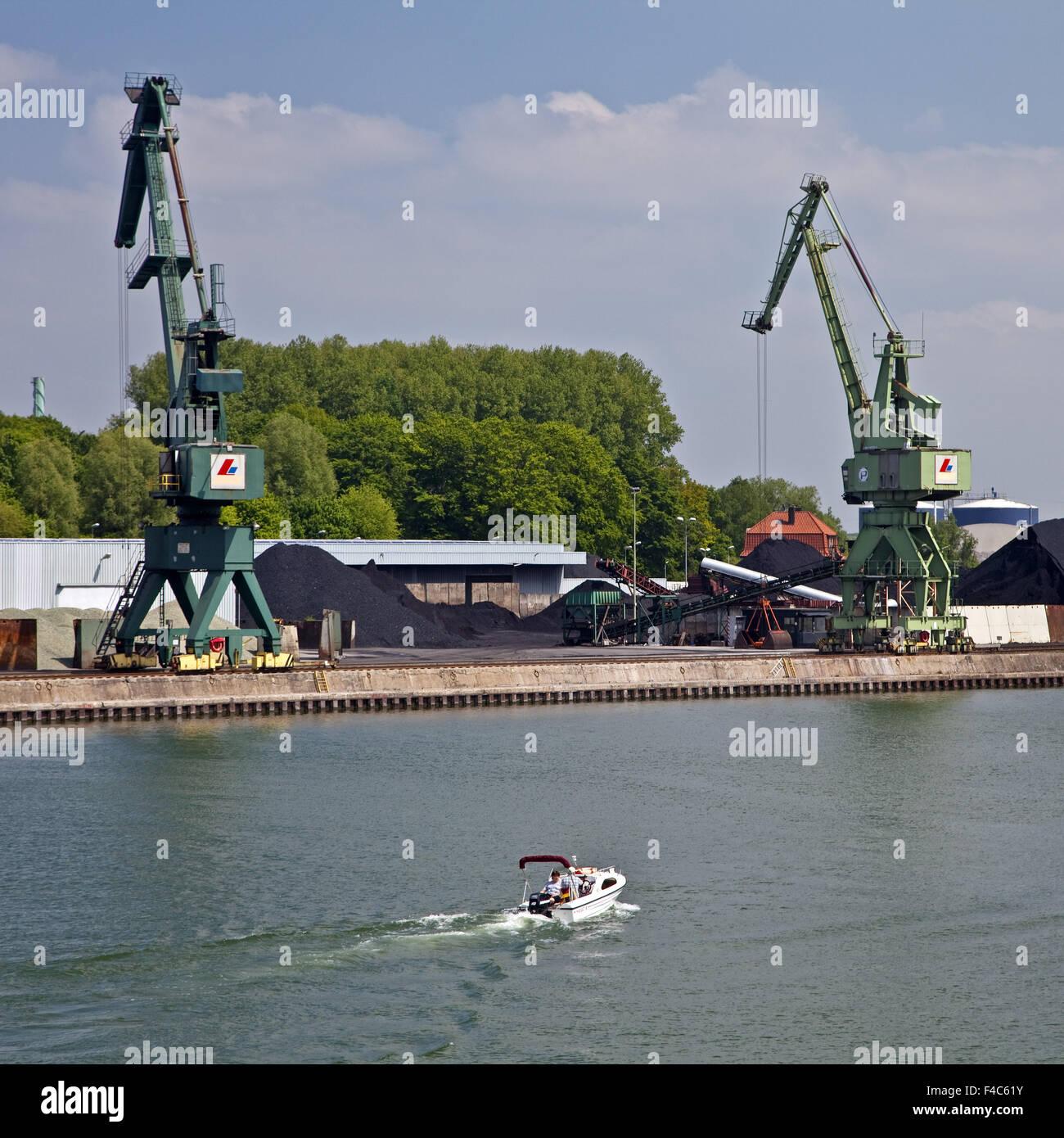 City harbor, Luenen, Germany - Stock Image