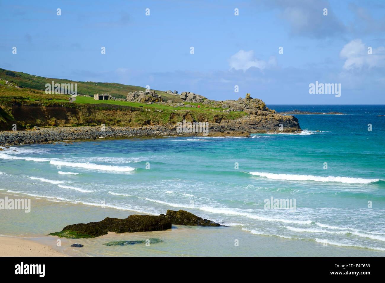 Porthmeor beach, St Ives, Cornwall, England, UK Stock Photo