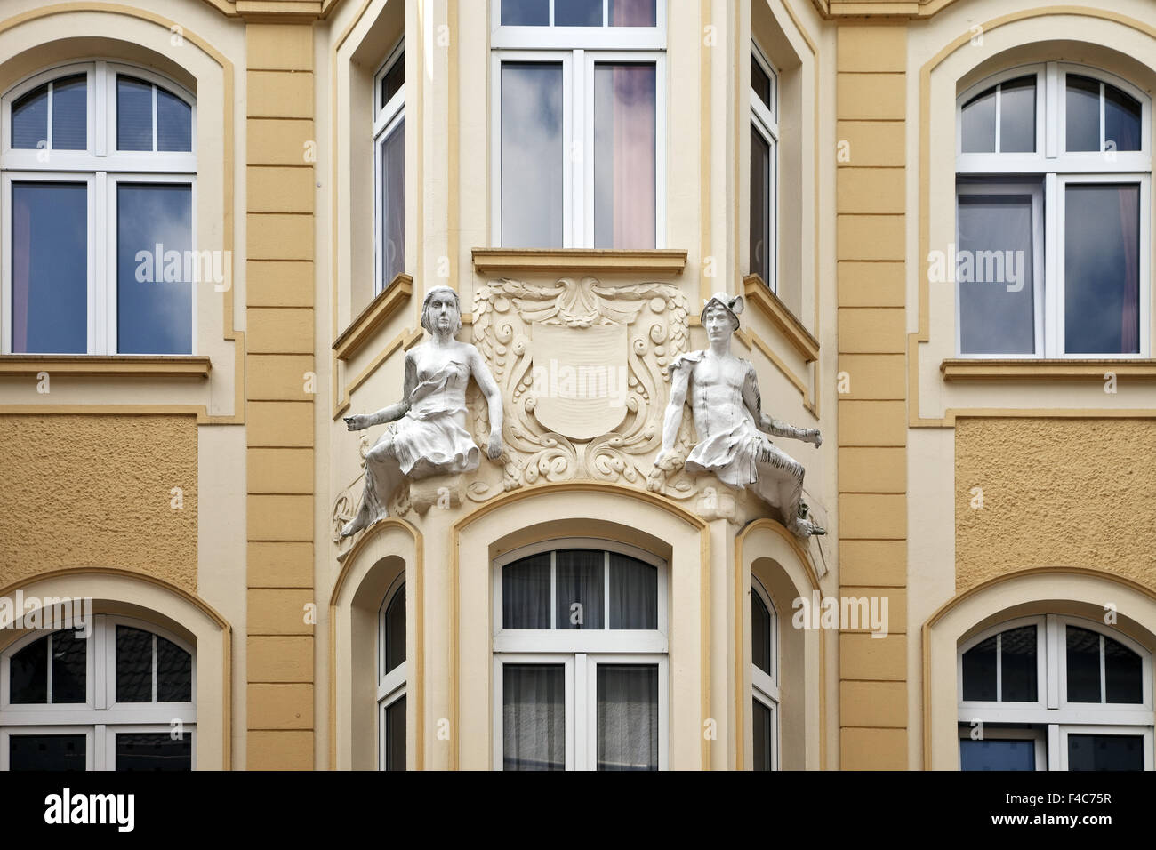 House detail, Unna, Germany - Stock Image
