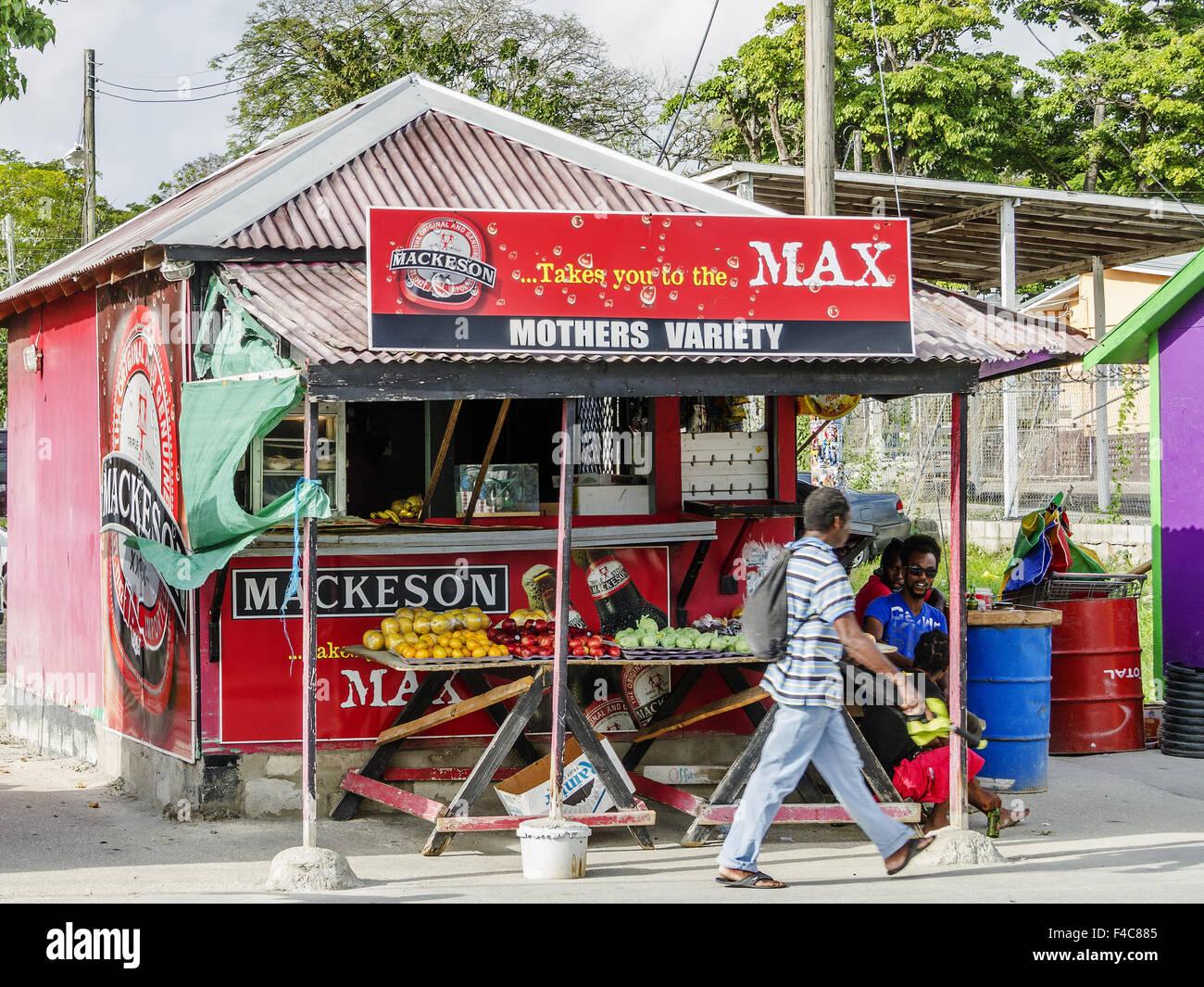 General Store Bridgetown Barbados West Indies - Stock Image