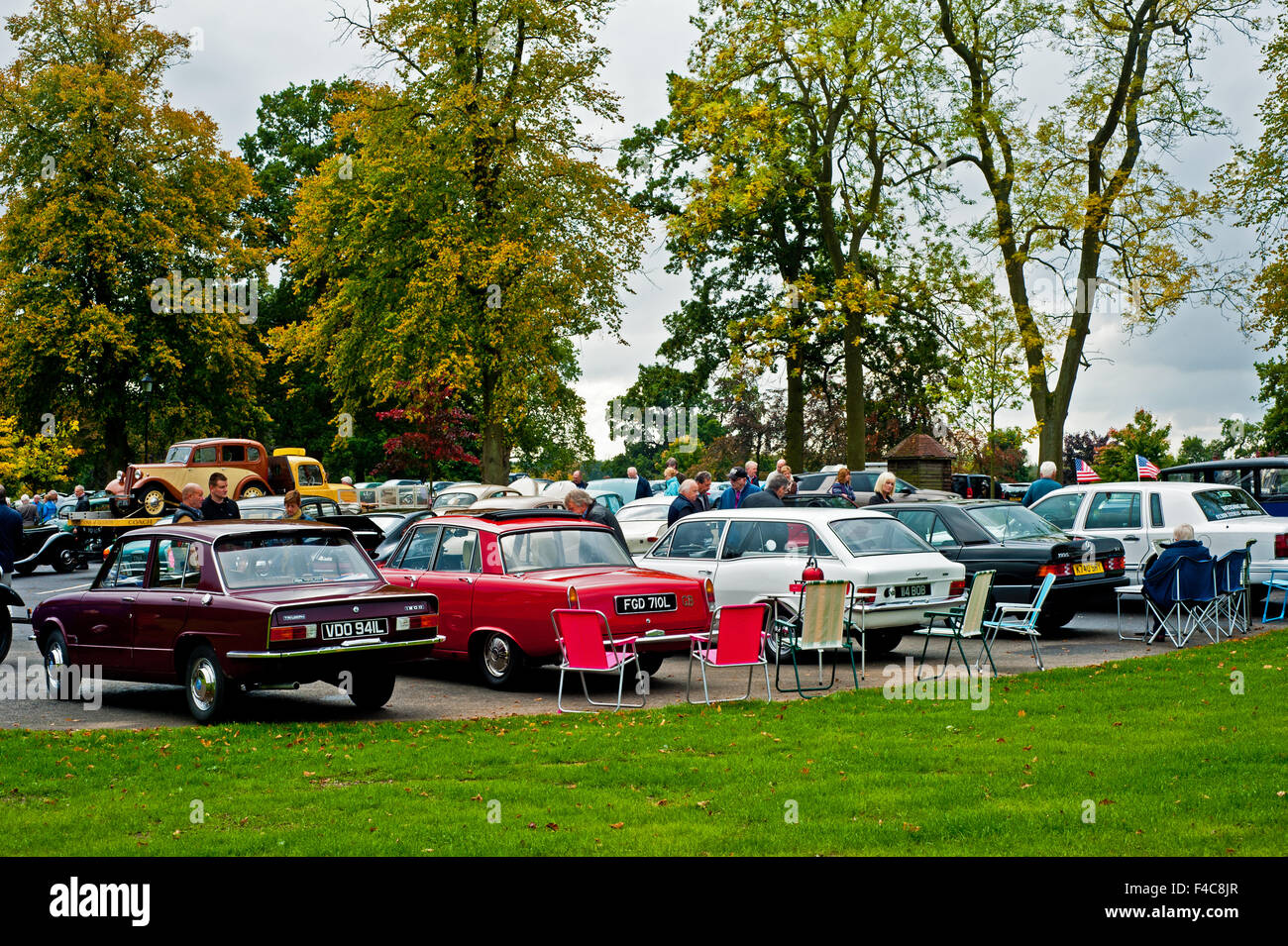 Classic Car Show at Wynyard Hall, Stockton on Tees Stock Photo ...