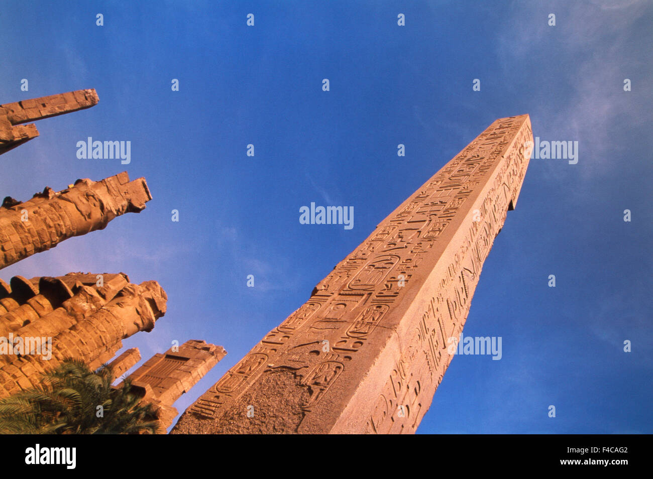 Egypt, Upper Egypt, Luxor, Karnak, Amun Temple, Obelisk Central Court. (Large format sizes available) - Stock Image
