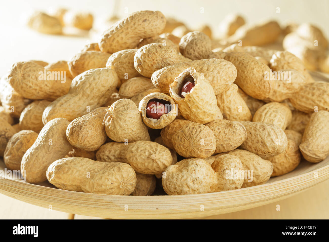 Peanuts in shells - Stock Image