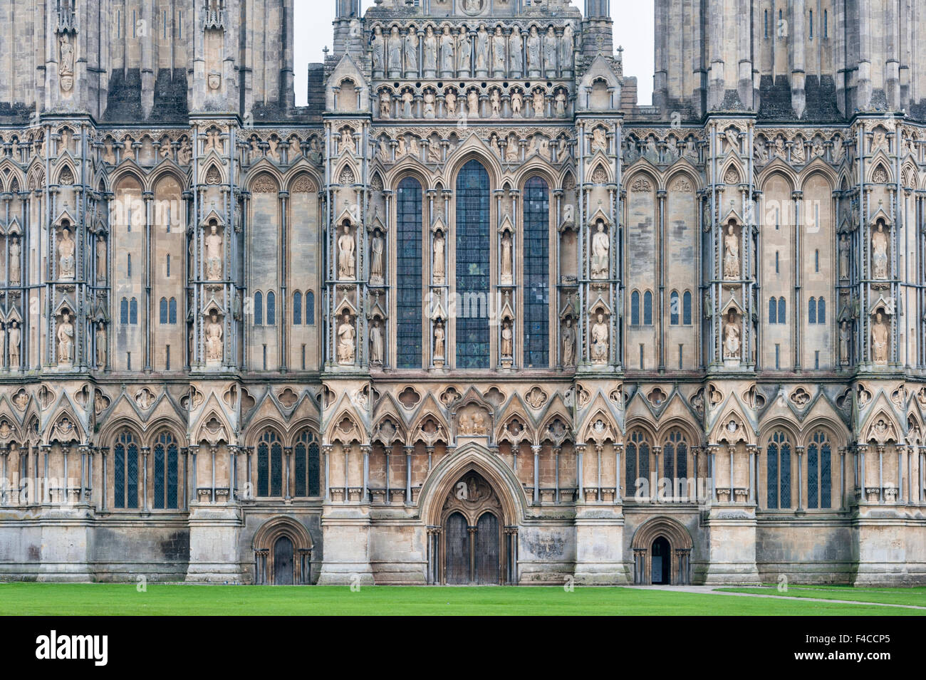 The Early English Gothic west front dates from about
