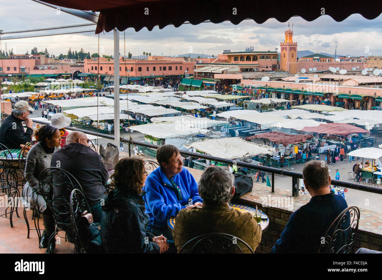View Of Place Jemaa El Fna From The Terrace Of Cafe Glacier
