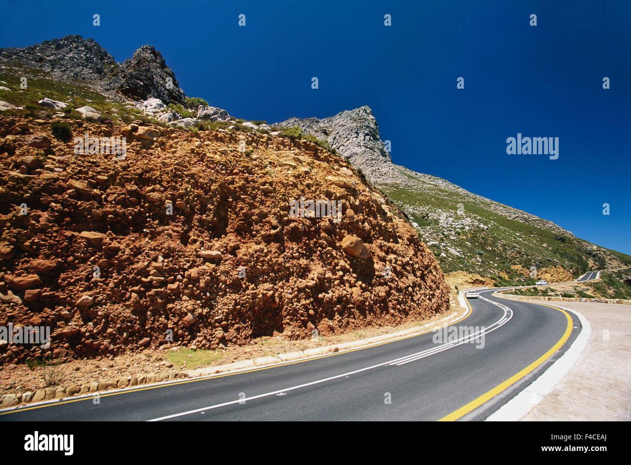 South Africa, False Bay, Coastal road 44 highway along Eastern side of False Bay by Rooi-Els Bay. (Large format - Stock Image
