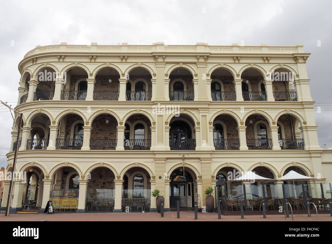 Historic Largs Pier Hotel, Adelaide. - Stock Image