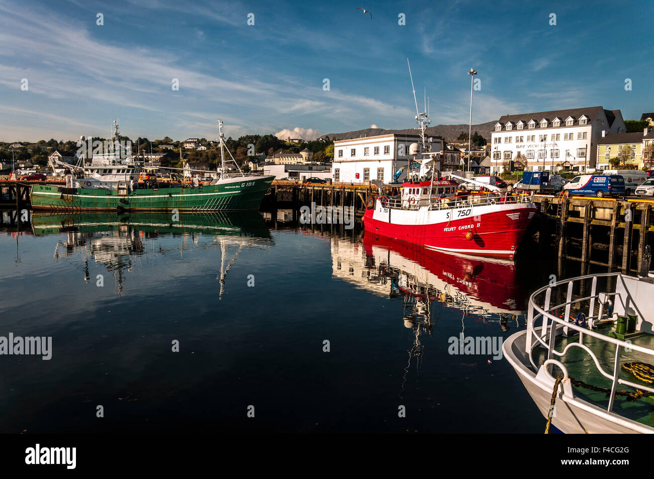 Killybegs, County Donegal, Ireland. October 16th 2015. Still and sunny day in  Ireland's premier fishing port - Stock Image