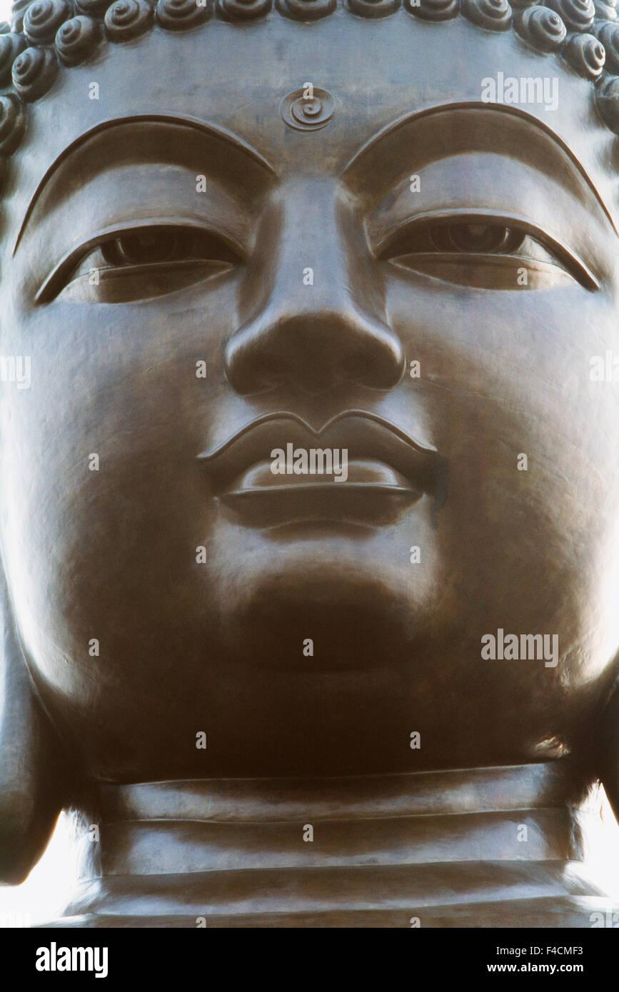 Hong Kong, Po Lin Monastery, Lantau Island, Close-up of Buddha statue. (Large format sizes available) - Stock Image