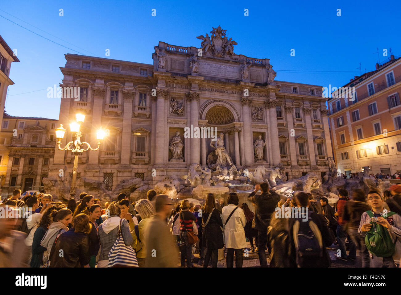 Tourists at Trevi Fountain, Rome, Italy - Stock Image