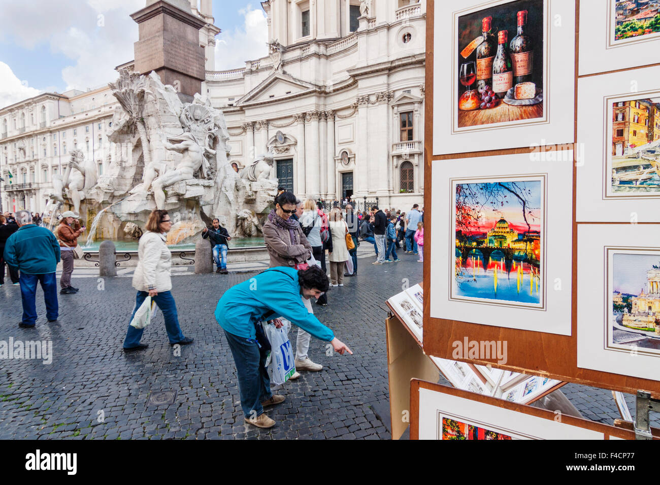 Piazza Navona, Rome, Italy - Stock Image
