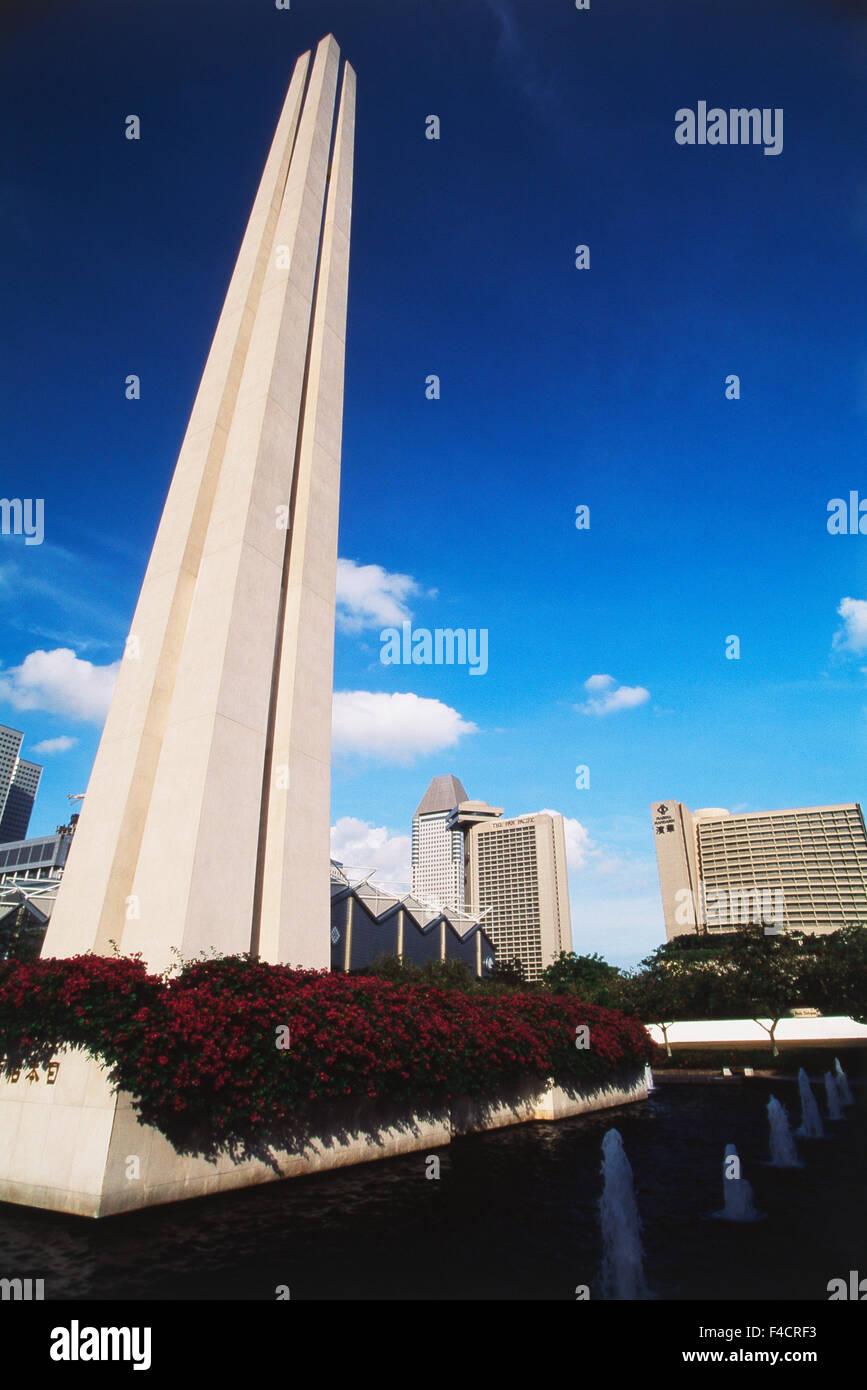 Singapore. civilian war memorial. (Large format sizes available) - Stock Image