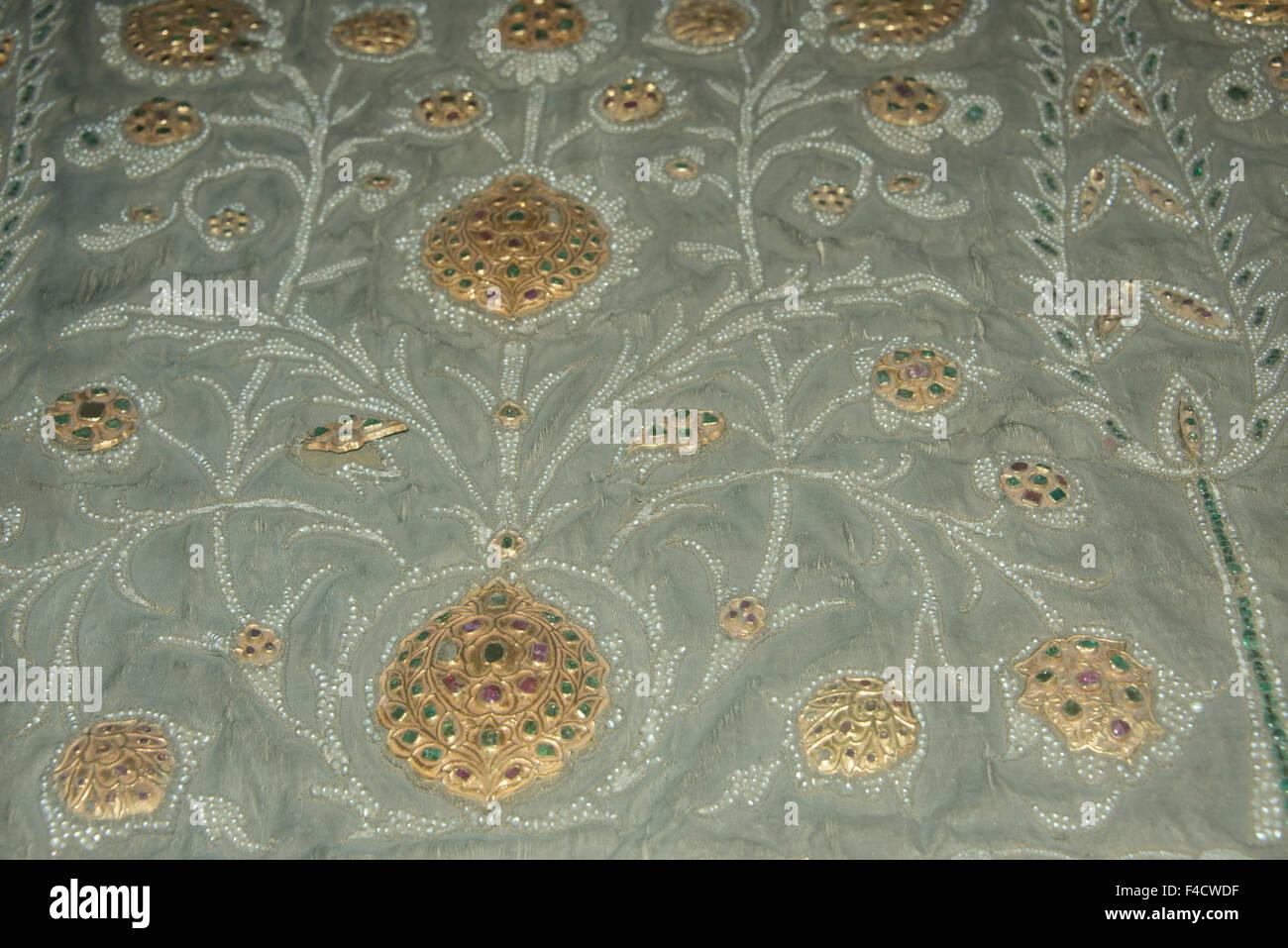 Asia Turkey Istanbul Topkapi Historic Palace Hand Embroidered