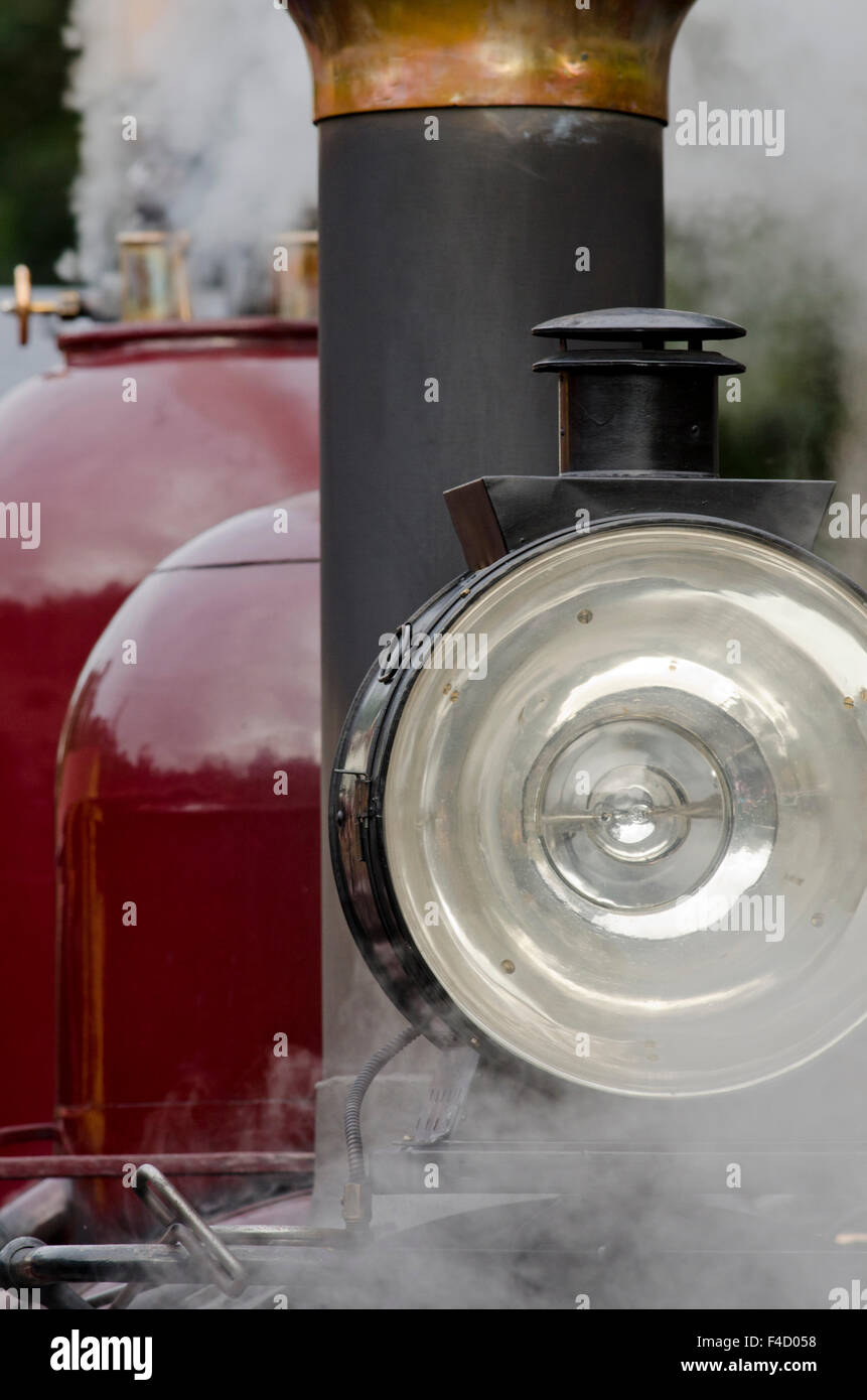 Australia, Dandenong Ranges. Puffing Billy, detail of engine on historic vintage steam train, circa early 1900's. - Stock Image