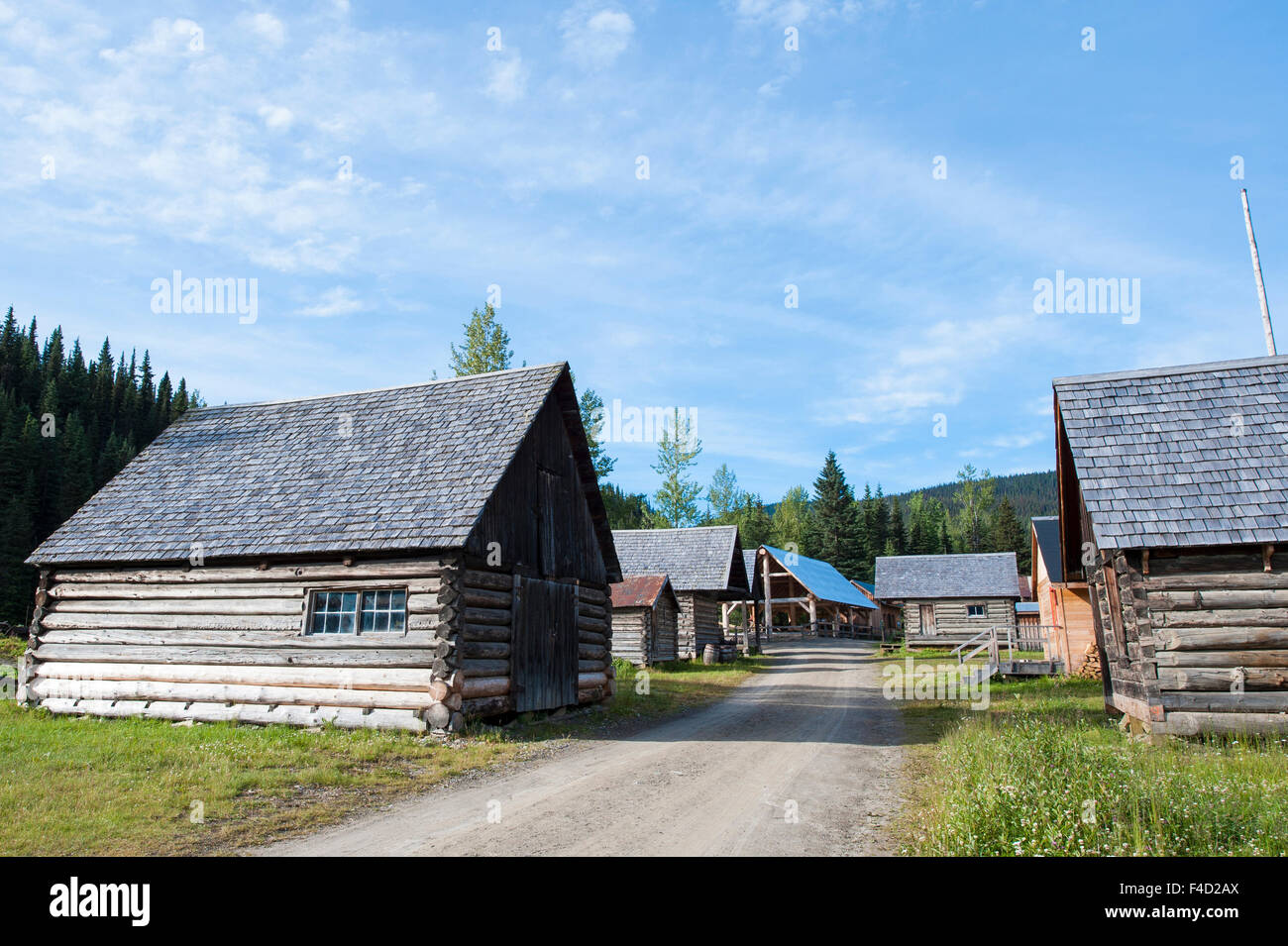 Historic old gold town Barkerville, British Columbia, Canada