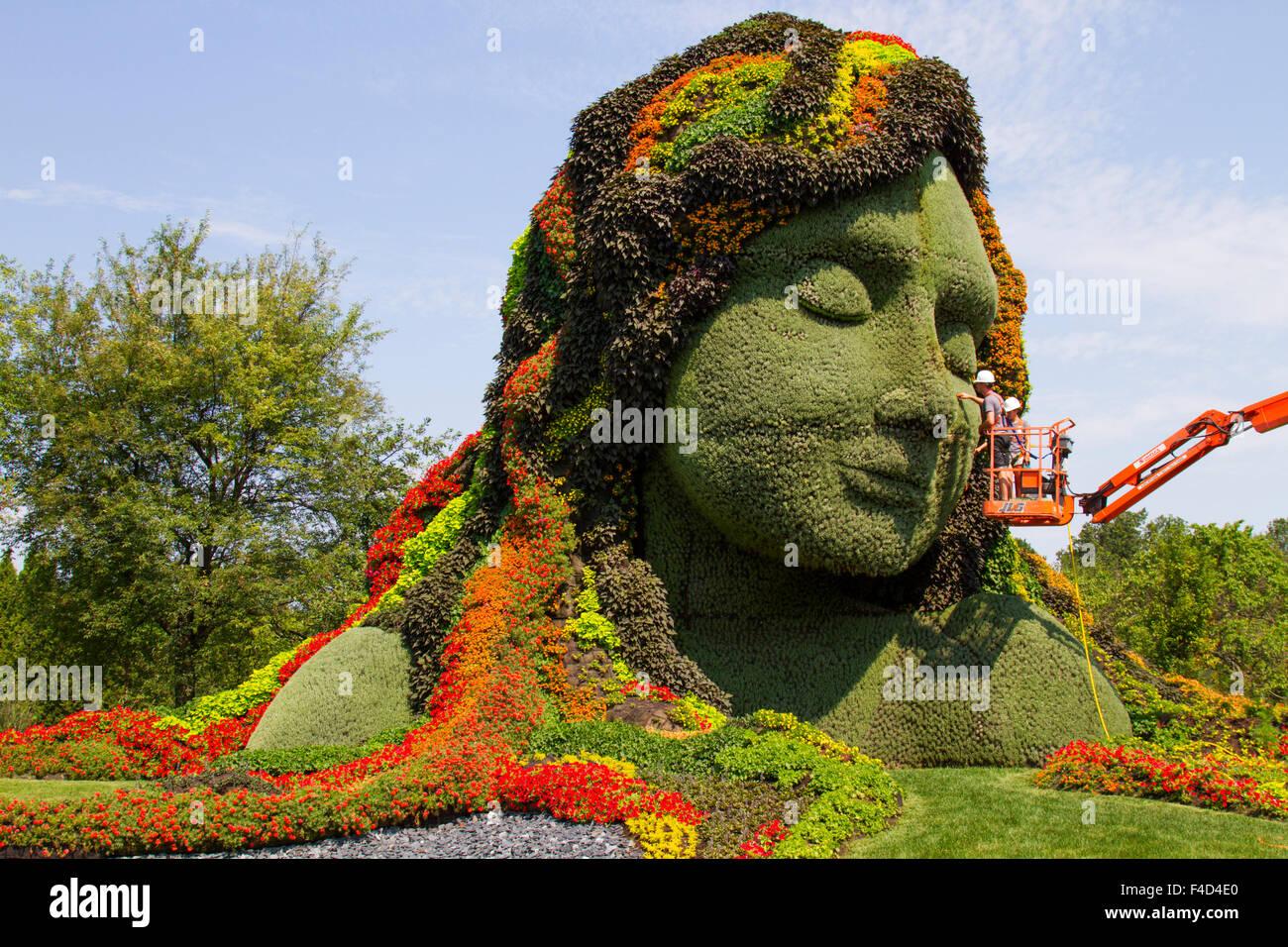 Canada, Montreal, Jardin Botanique (Botanical Garden), Mosaicultures Stock Photo: 88799368 - Alamy