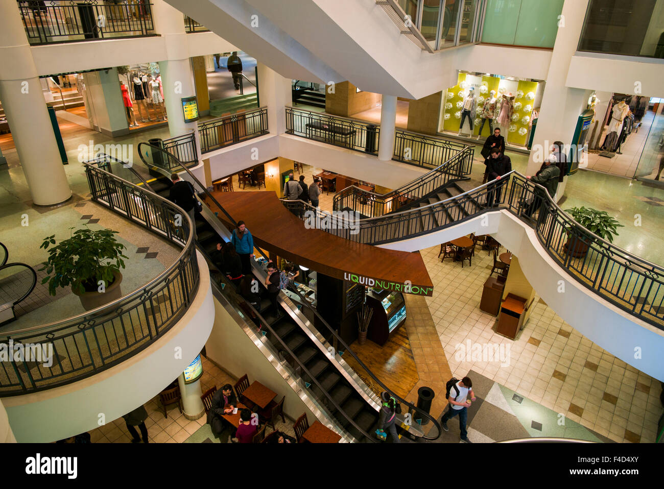 Canada, Montreal, Les Cours Mont-Royal, shopping center, interior Stock Photo