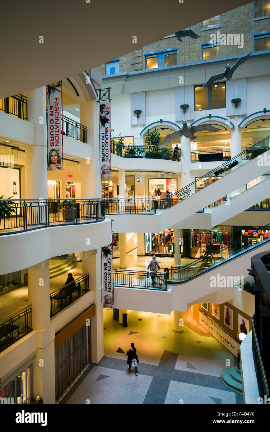 Canada, Montreal, Les Cours Mont-Royal, shopping center, interior - Stock Image