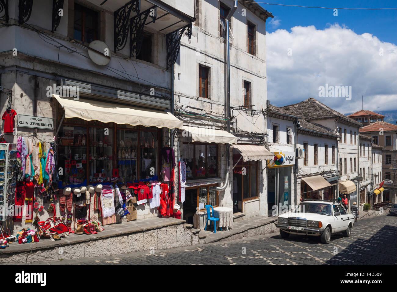 Albania, Gjirokastra, Ottoman town buildings - Stock Image