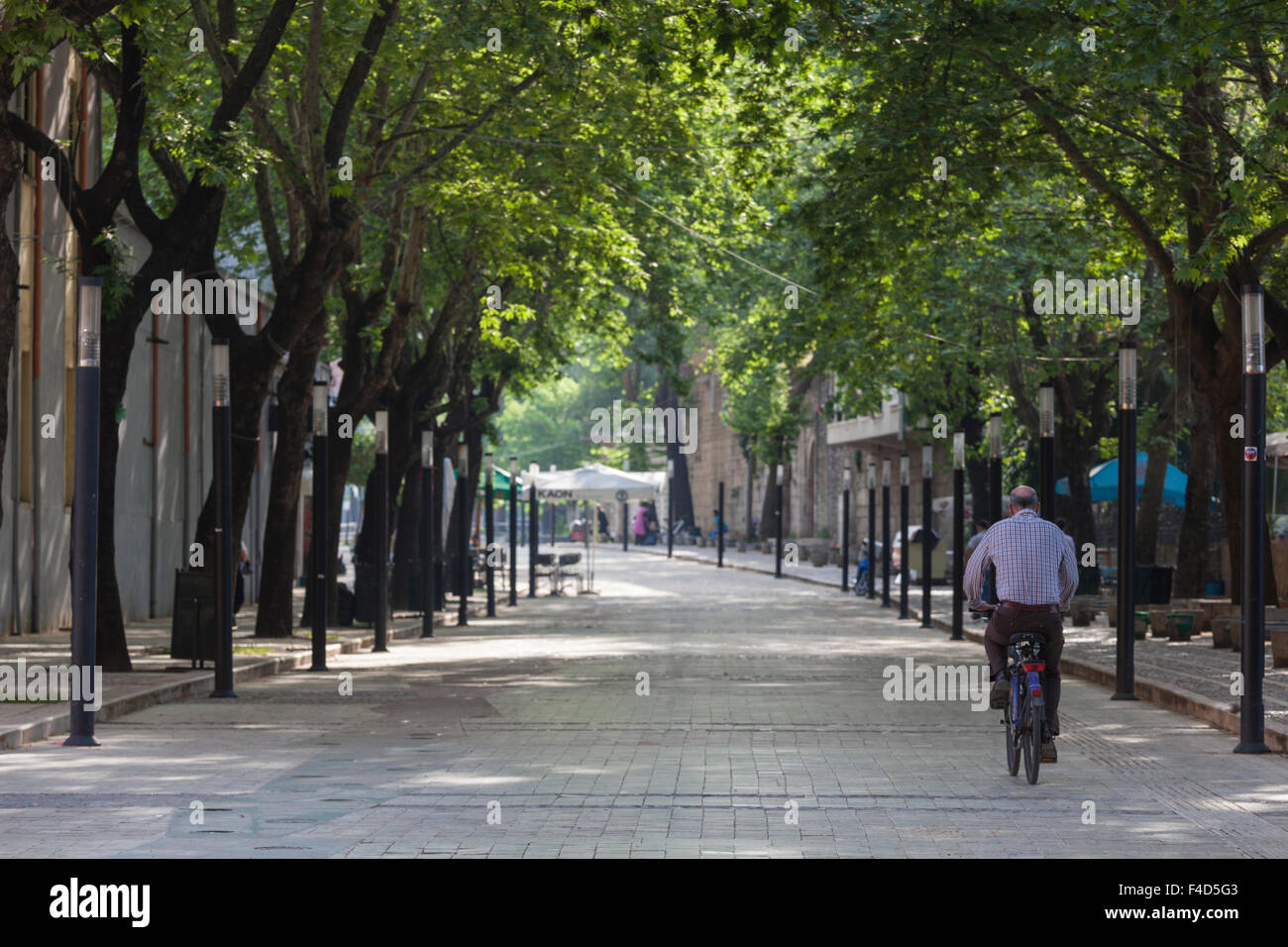 Albania, Tirana, Murat Toptani pedestrian street - Stock Image