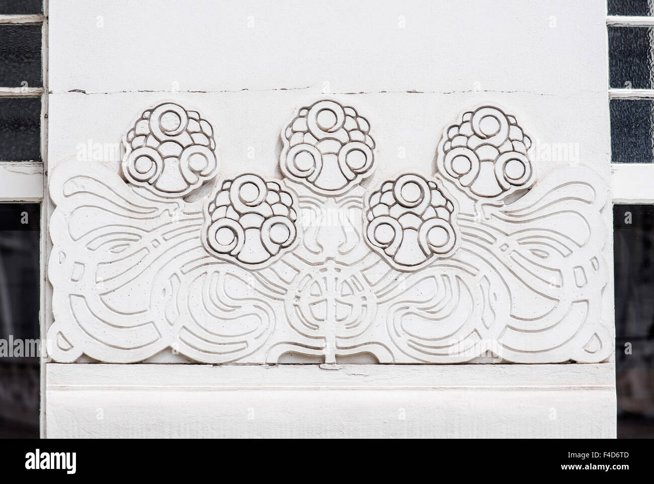 Austria, Vienna, Secession Hall Detail (Large format sizes available). - Stock Image