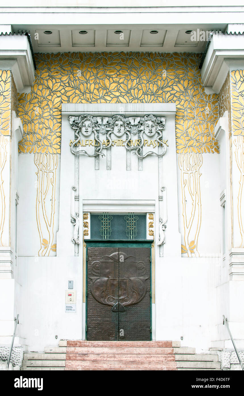 Austria, Vienna, Secession Hall Entrance (Large format sizes available). - Stock Image