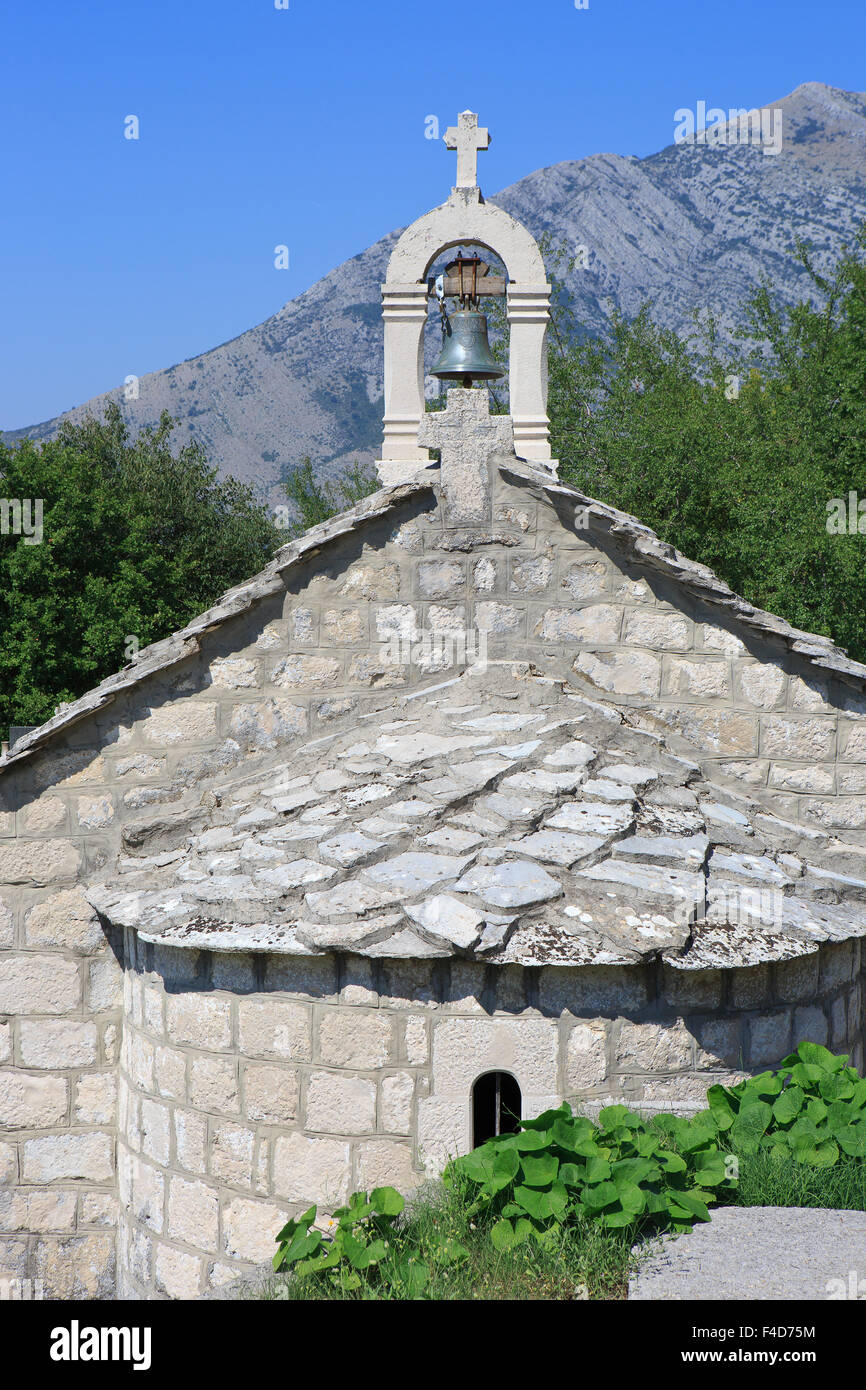 Close-up of a traditional Orthodox church at Mrkonjici, Bosnia-Herzegovina - Stock Image