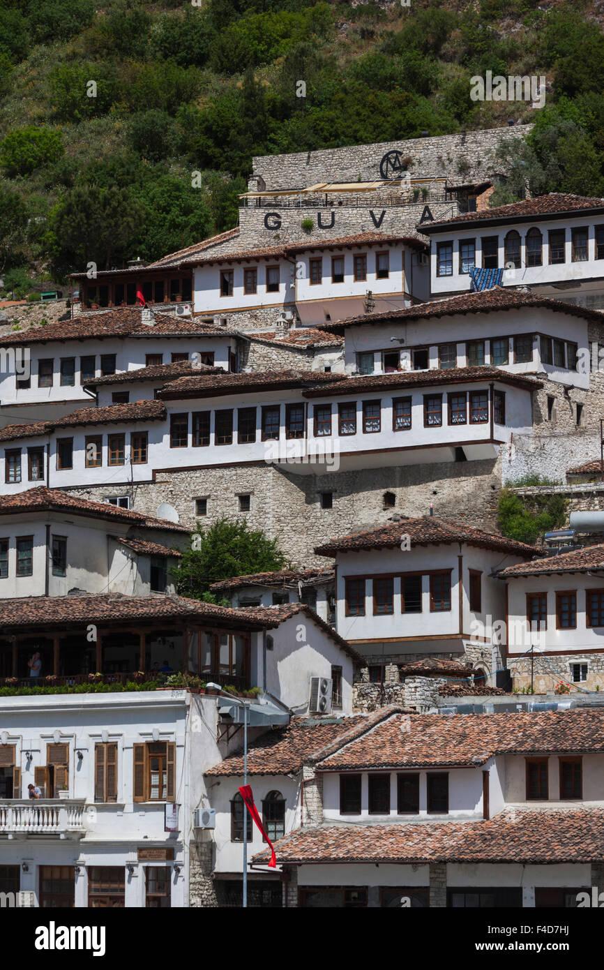 Albania, Berat, Ottoman buildings - Stock Image