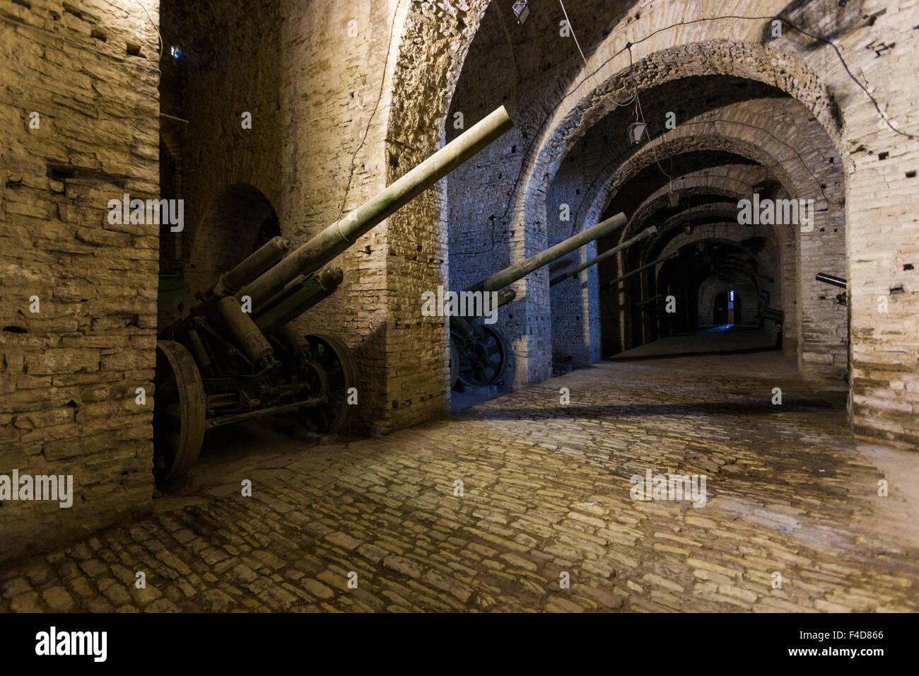 Albania, Gjirokastra, castle, National Museum of Armaments, artillery - Stock Image
