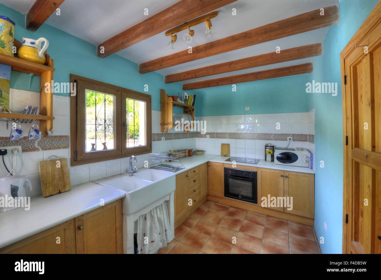 Spanish Villa Kitchen Stock Photos & Spanish Villa Kitchen Stock ...