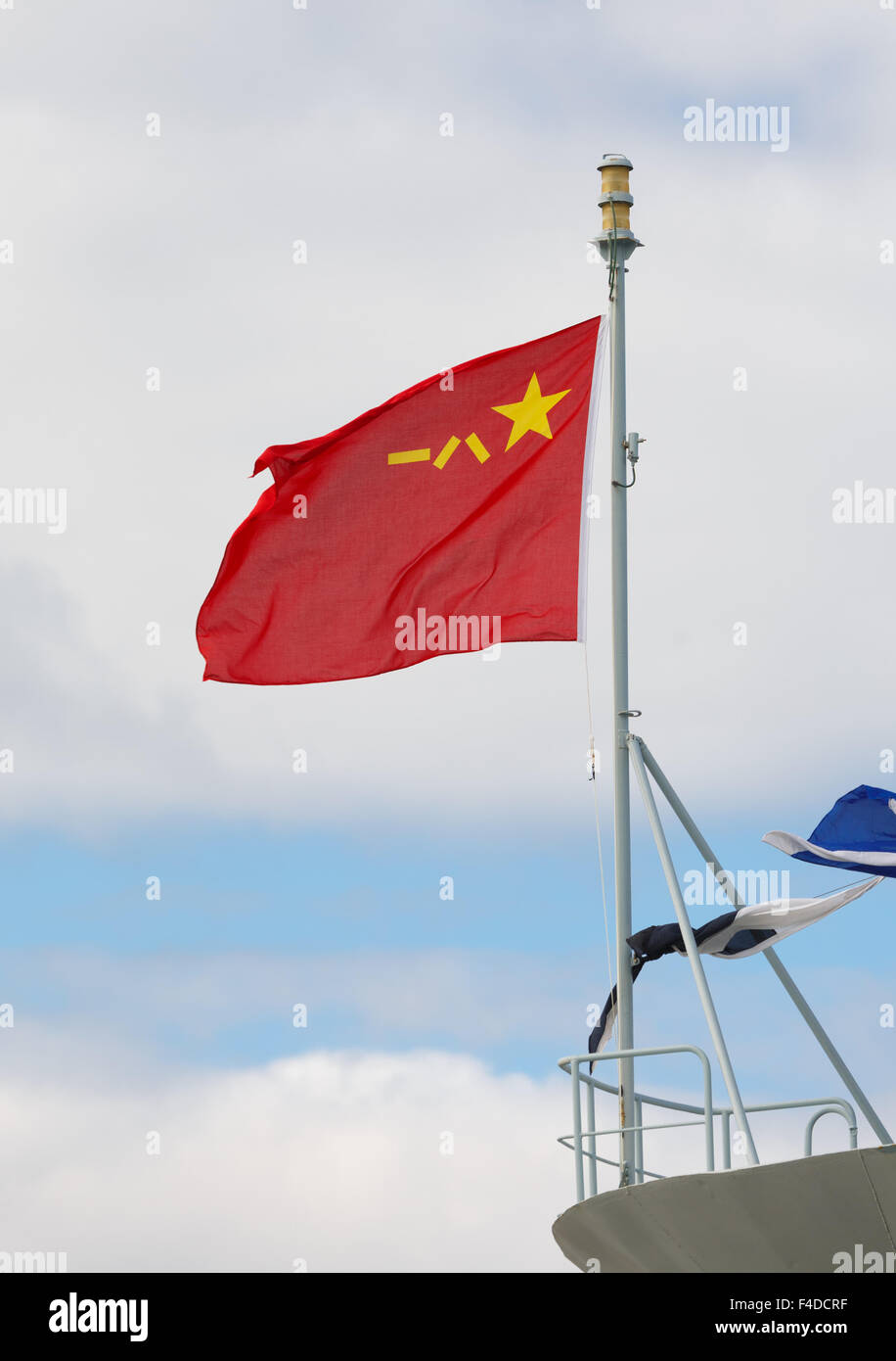 Flag of the People's Liberation Army of the People's Republic of China. - Stock Image