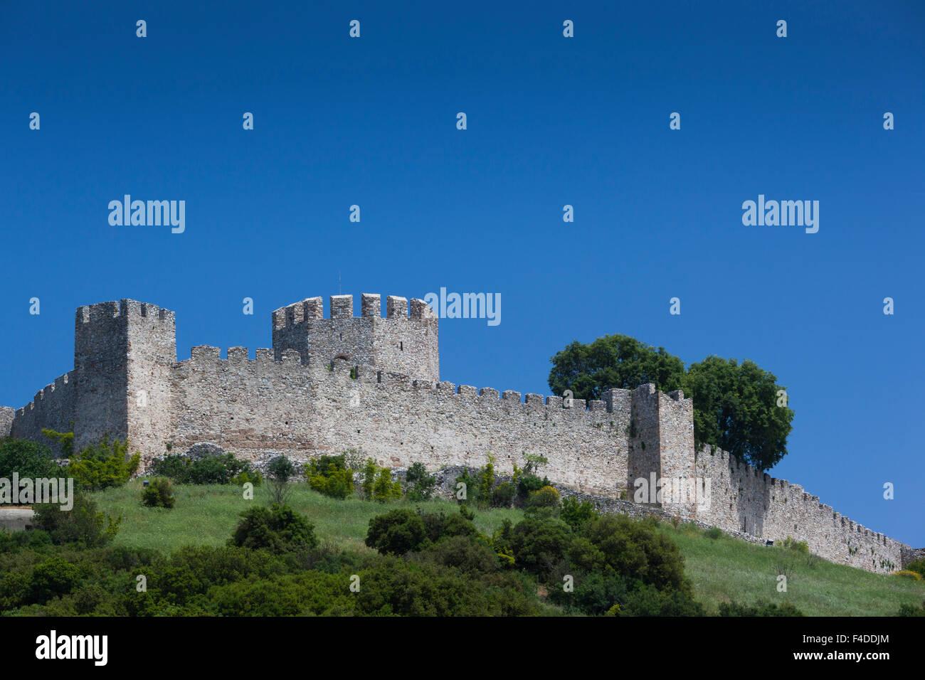 Greece, Thessaly, Platamonas, 13th century Platamonas Castle - Stock Image