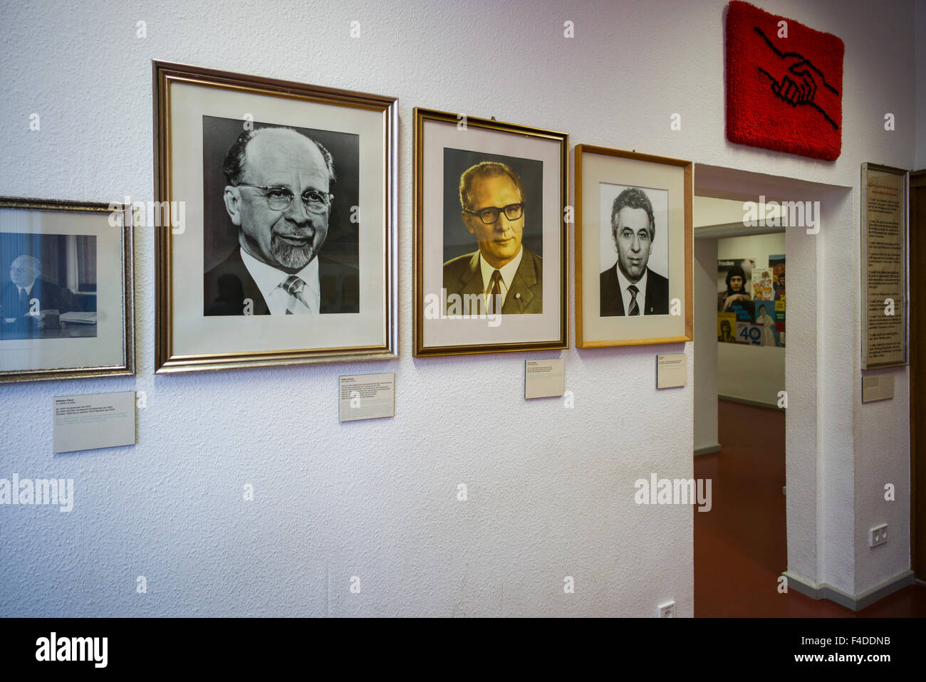 Germany, Berlin, Stasi Museum, DDR-era secret police museum in former secret police headquarters, portraits of Stasi Stock Photo