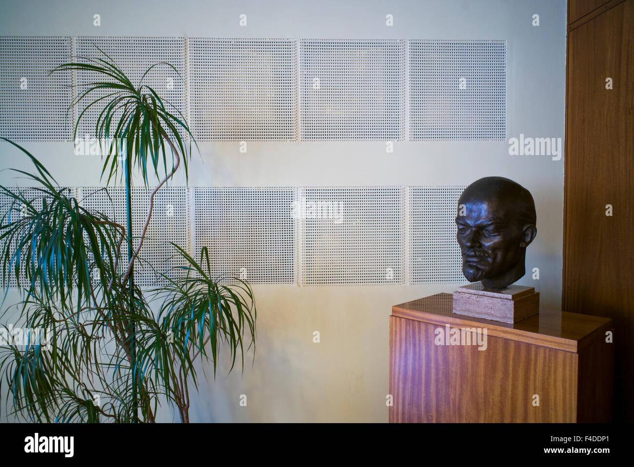 Germany, Berlin, Stasi Museum, DDR-era secret police museum in former secret police headquarters, bust of Lenin Stock Photo