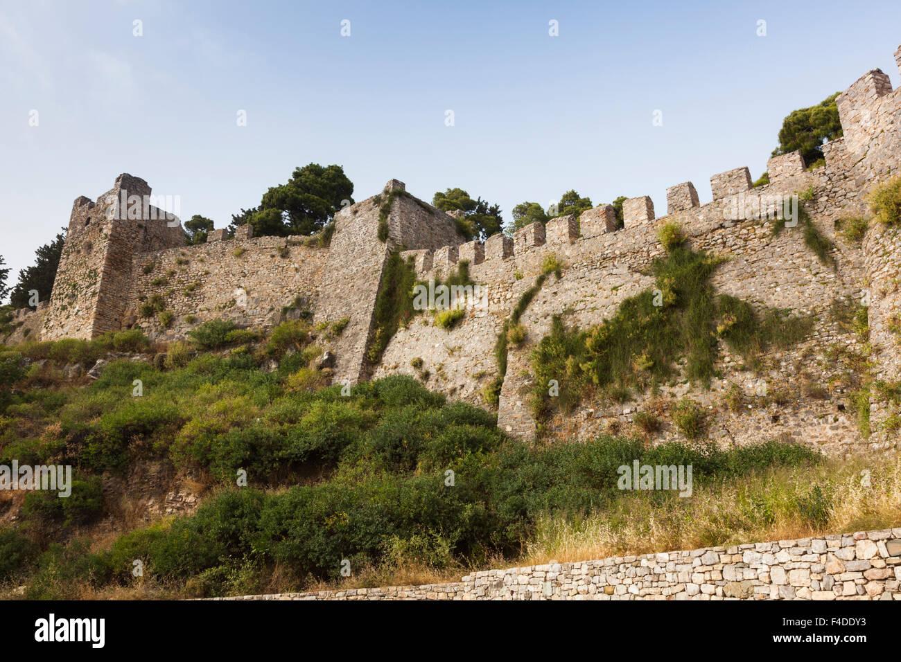 Greece, West Greece, Nafpaktos, The Citadel, Venetian Fortress - Stock Image