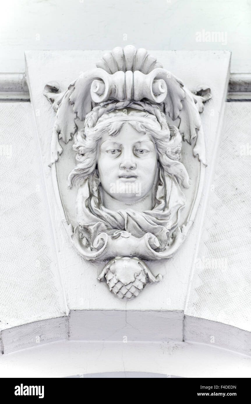 Europe, Hungary, Budapest, Andrassy UT, Building Detail (Large format sizes available). - Stock Image