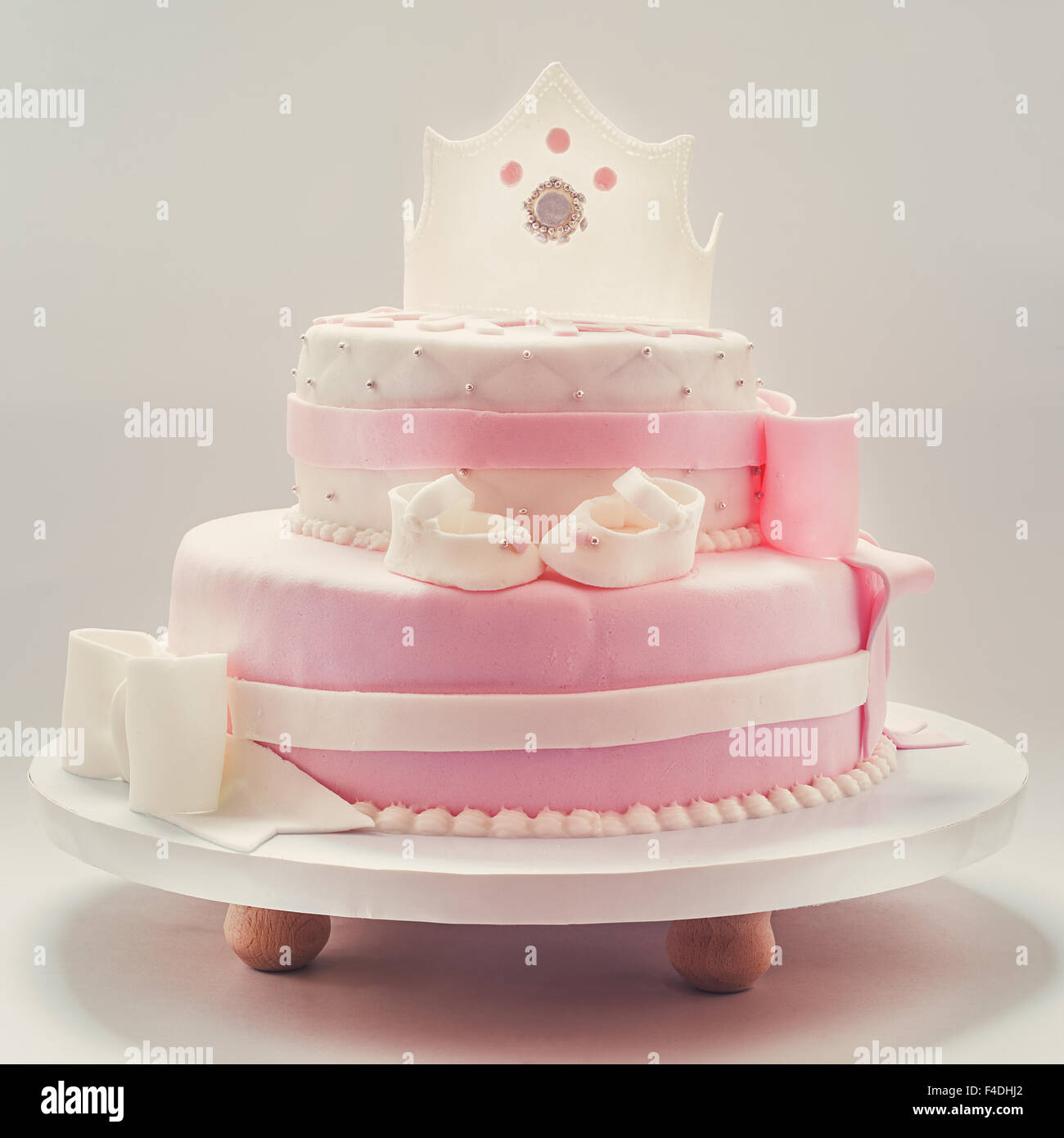 Peachy Decoration Details Of A Birthday Cake Made For Little Baby Girl Birthday Cards Printable Riciscafe Filternl