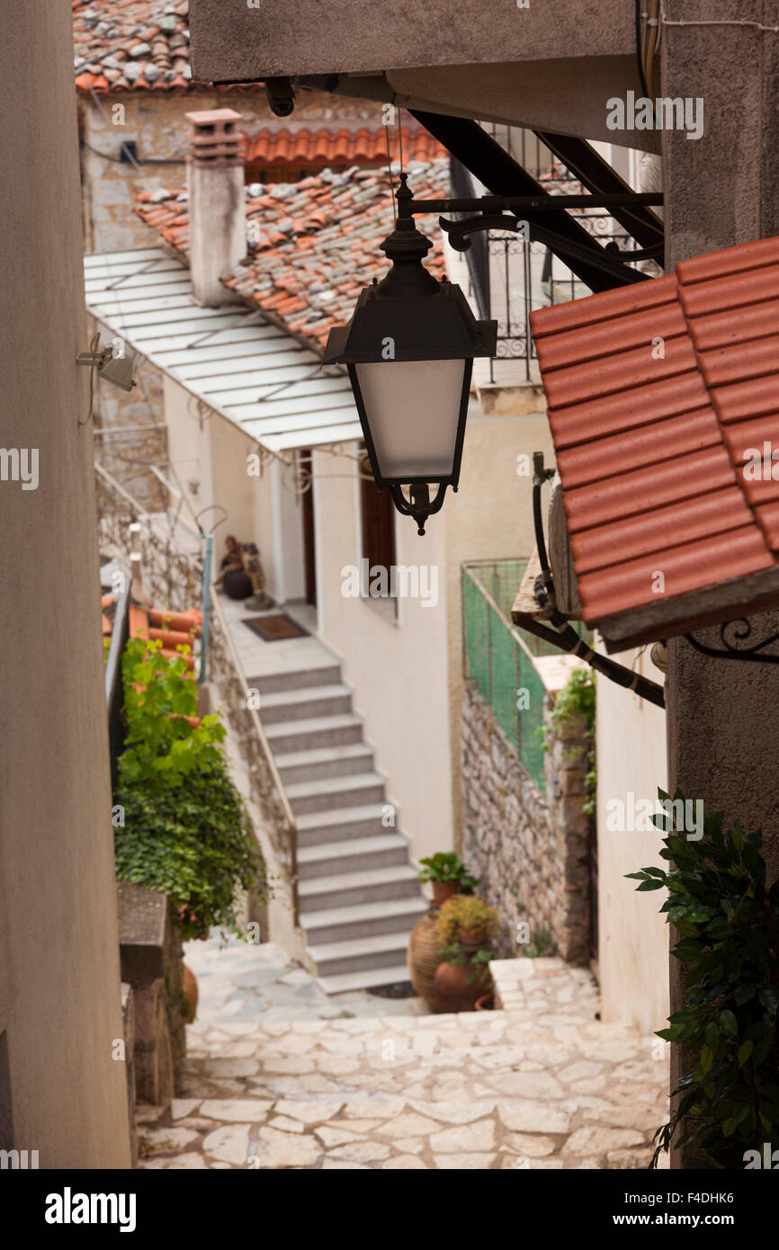 Central Greece, Arahova, streetlight detail - Stock Image