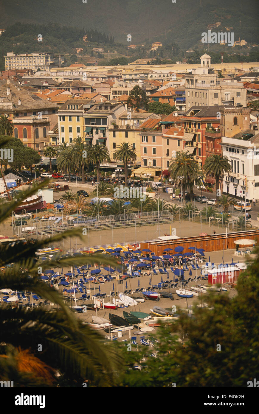 Italy, Liguria, Riviera Di Levante. townscape. (Large format sizes available) - Stock Image