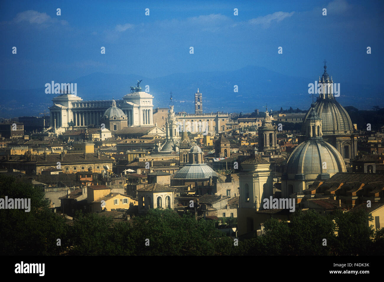 Italy, Rome, Vatican City, Vittorio Emanuele II (Altare della Patria). city and Monument. (Large format sizes available) - Stock Image