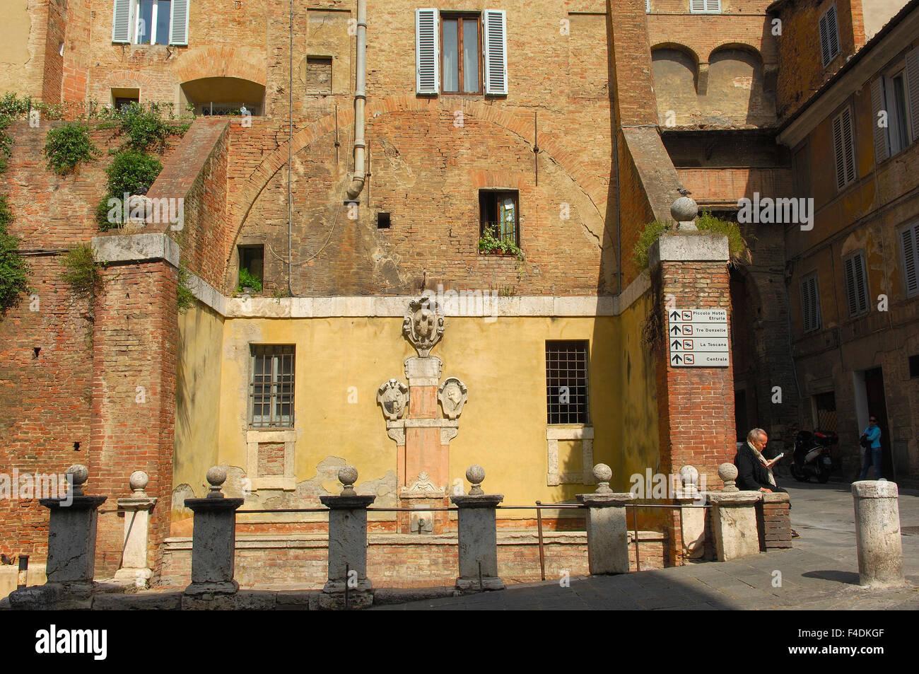 Siena Via Pantaneto Unesco World Stock Photos Pantane Heritage Site Street Tuscany Italy