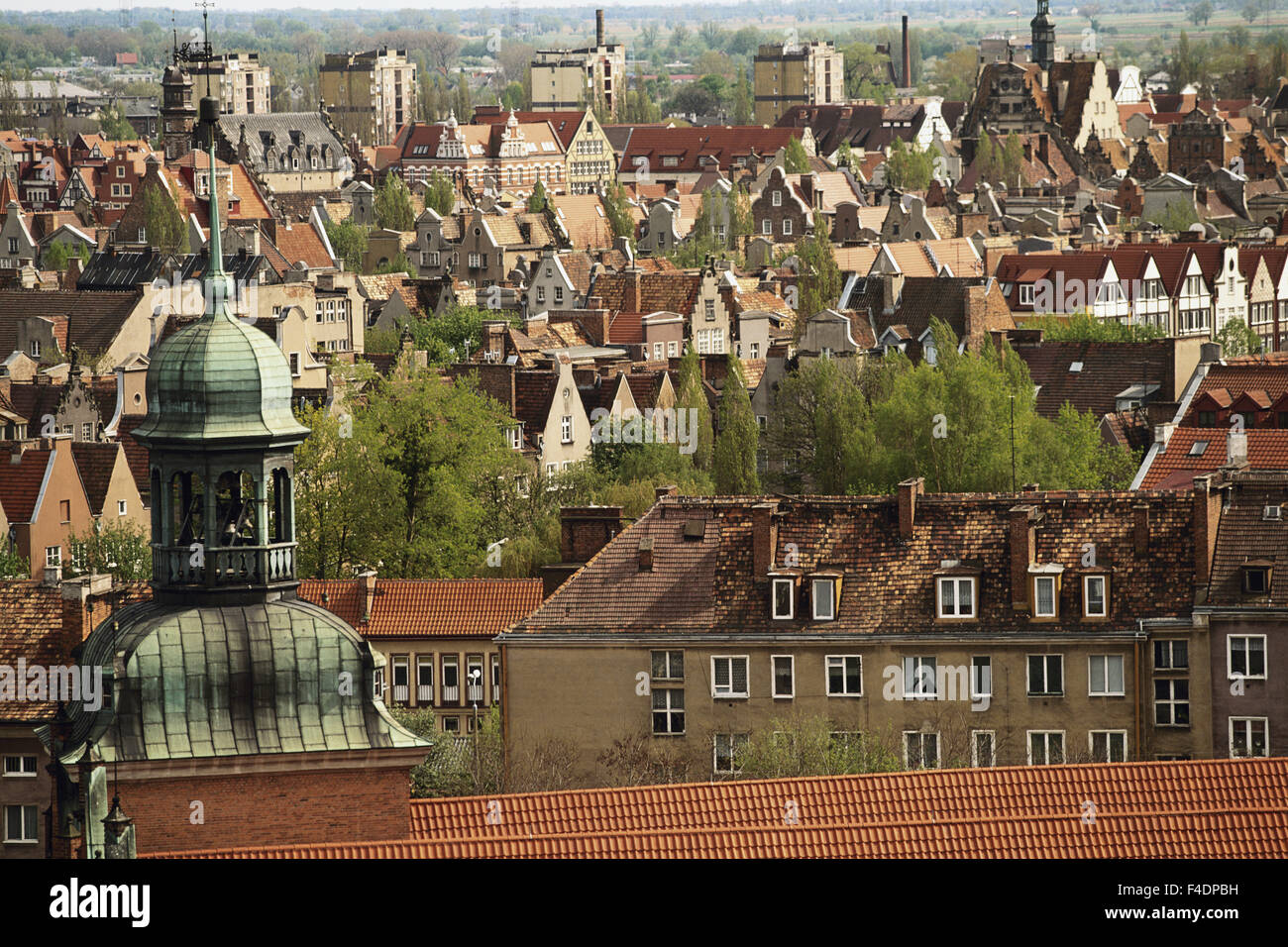 Poland, Pomerania, Gdansk. town. (Large format sizes available) - Stock Image