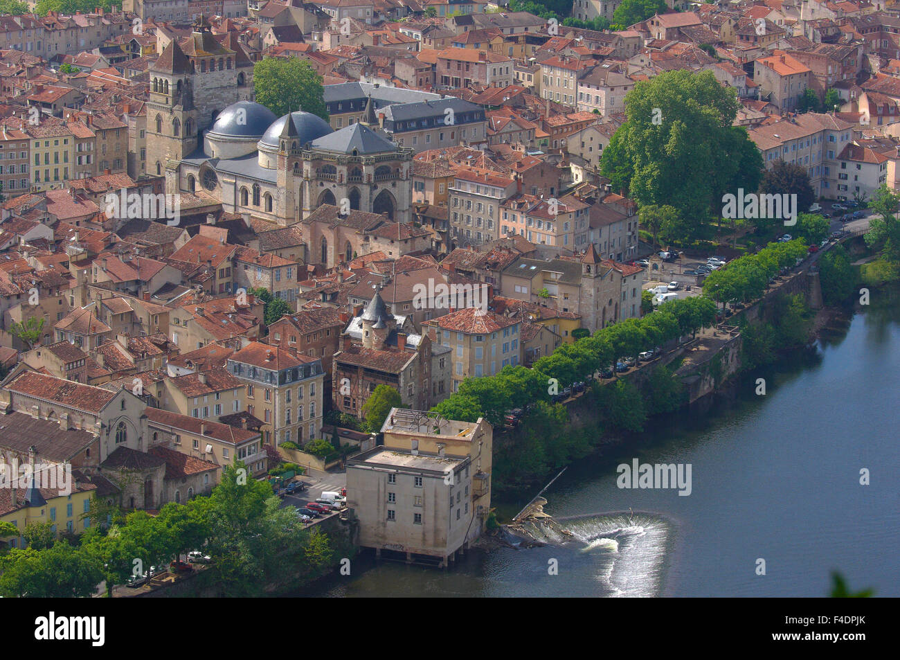 Cahors, Lot River, Lot departament, Quercy, Via Podiensis, Way of St James, France. - Stock Image