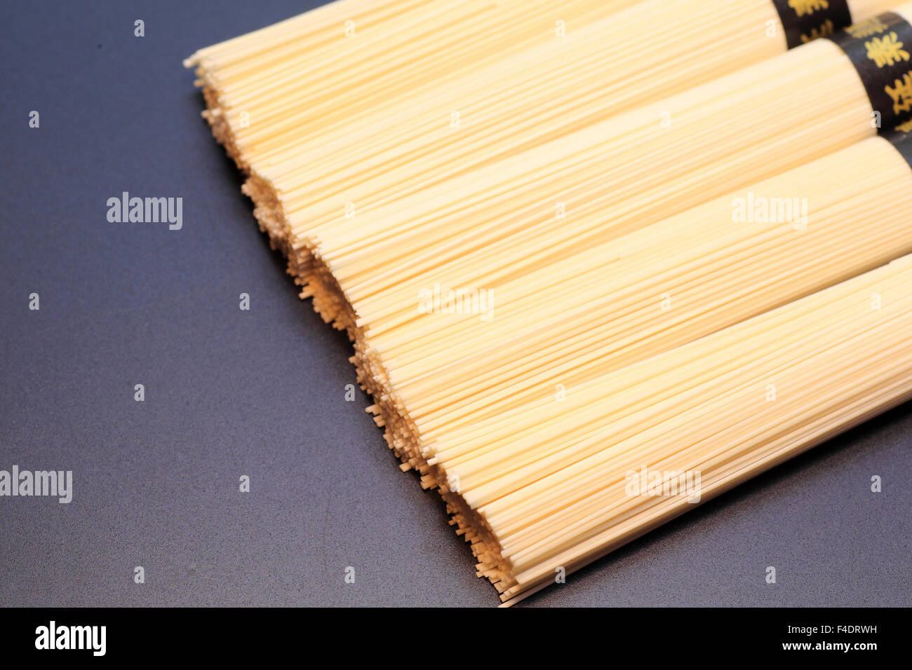 Japanese vermicellifine noodles islated - Stock Image