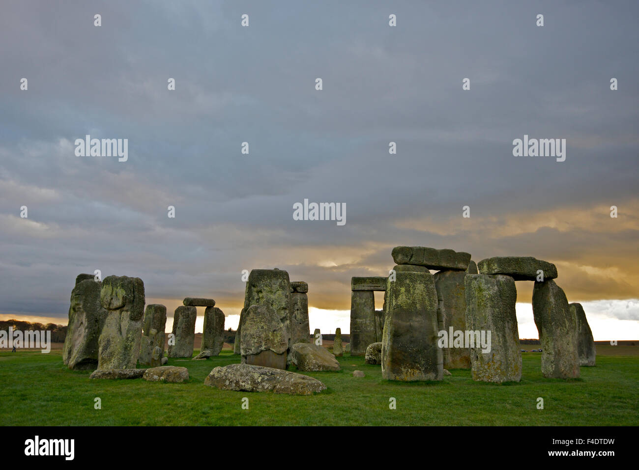 The Neolithic monument Stonehenge beneath a winter sky, just days from the solstice. (Large format sizes available) - Stock Image