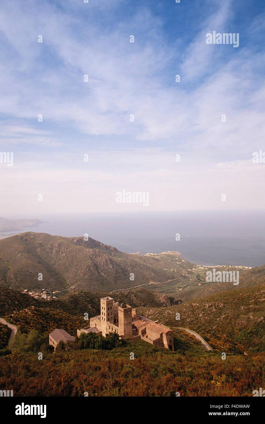 Spain, Catalonia, Costa Brava. Sant Pere De Rhodes ( El Port de la Selva). (Large format sizes available) - Stock Image