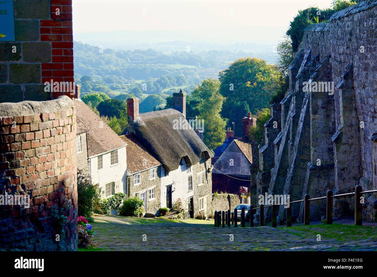 Shaftesbury Hill as in Hovis advertisement - Stock Image