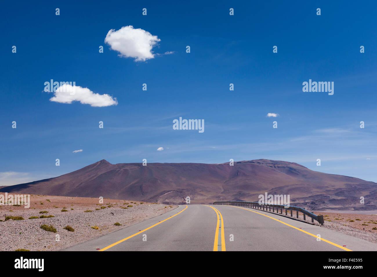 Chile, Atacama Desert, Ruta 27 CH highway. - Stock Image