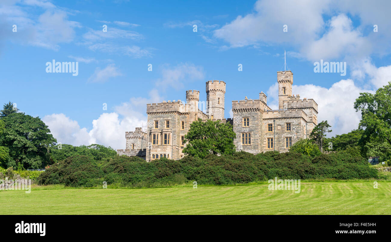 Stornoway, the largest town. Lews Castle and gardens, now museum and part of the Lews Castle College. (Large format - Stock Image