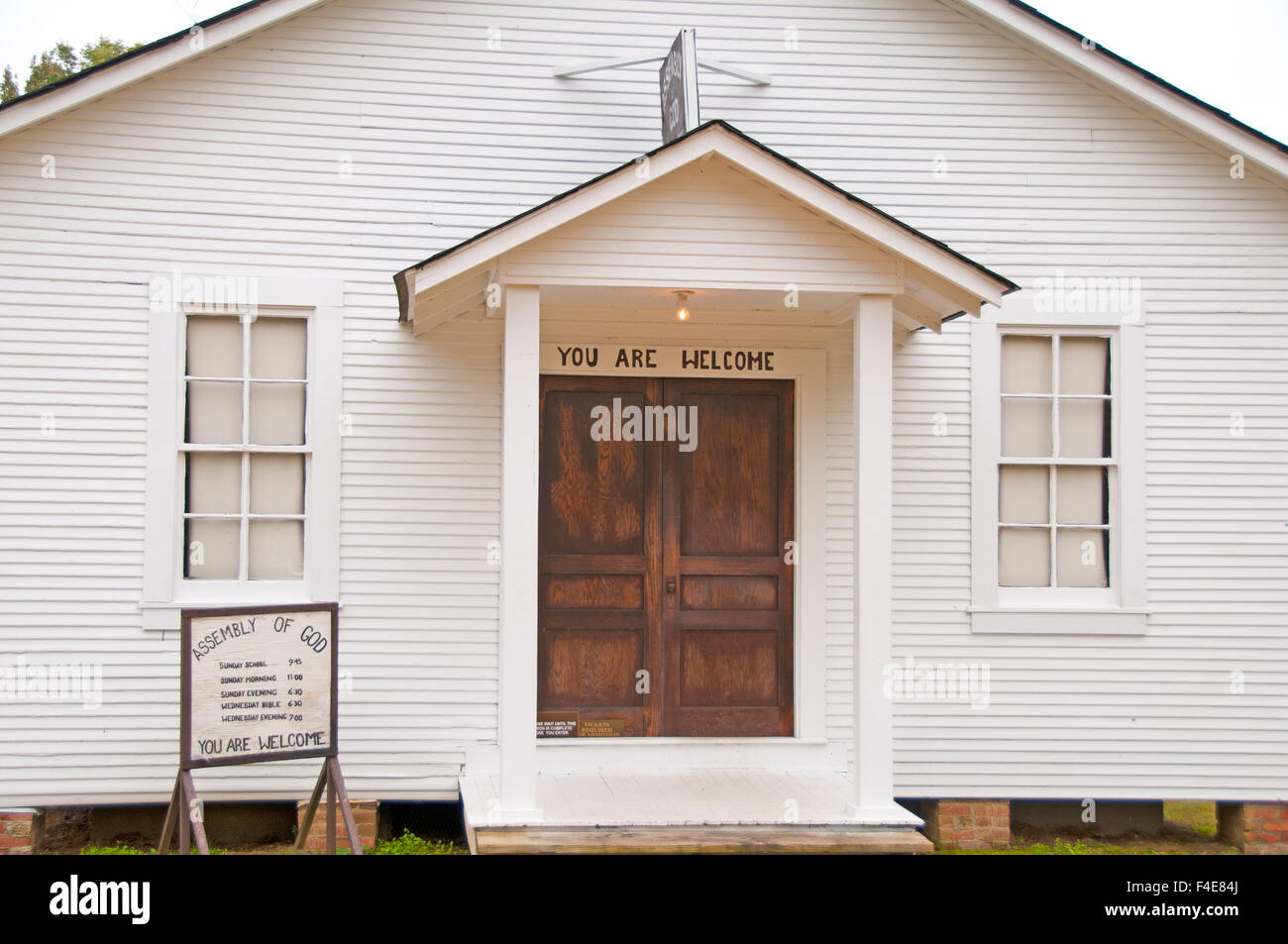 Elvis Presley Memorial Chapel at his birthplace in Tupelo, Mississippi, USA - Stock Image